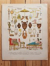 Greek Fashion Accessories - 1882 - Fashion & Costume History, Original Print