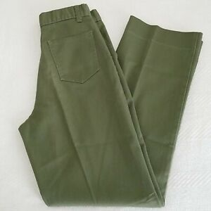 Vintage BSA Boy Scouts of America OLIVE GREEN PANTS YOUTH Sz 14 (27×29)