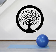 Vinyl Wall Decal Zen Circle Enso Tree Meditation Room Yoga Stickers (ig4739)