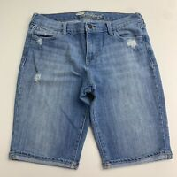 Old Navy The Sweet Heart Denim Shorts Women's 10 Blue Stretch Distressed Jeans