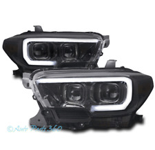 FOR 16-18 TOYOTA TACOMA SEQUENTIAL LED DRL SMOKE PROJECTOR HEADLIGHTS HEADLAMPS