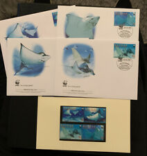 2009 Spotted Eagle Ray WWF FDC & Stamps MUH Grenadines Of St Vincent