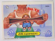 VINTAGE! 1987 Topps Garbage Pail Kids Trading Card #342a-Jim Equipment