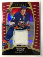 2019-20 Upper Deck Allure Red Rainbow Jersey Mathew Barzal Islanders