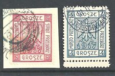 POLAND Locals: Przedborz 1917 2gr and 4gr both - 99962