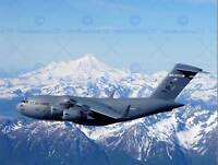 MILITARY AIR PLANE BOMBER TRANSPORT MOUNTAIN SNOW C-17 POSTER ART PRINT BB954B