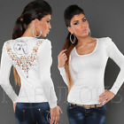 Sexy Women's Jumper Top Party Crochet Sweater Size 10 8 6 / US 2 4 6 / XS S M