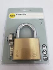 YALE SECURITY PADLOCK 60mm WITH 3 KEYS - SOLID BRASS - NEW
