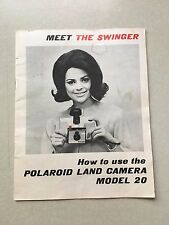 Polaroid Model 20 Manual How to Use Booklet Meet The Swinger Land Camera