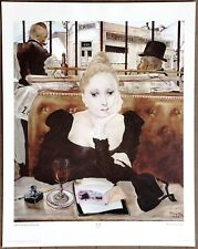 Tsugouharu Fujita  French Cafe  Original1st 1960 Printing Ltd Edition Lithograph