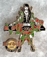 HARD ROCK CAFE NEW YORK SEXY VAMPIRE GIRL PLAYING KEYBOARD W/ ROSES PIN # 57826