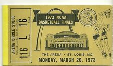 1973 NCAA Basketball Finals Ticket Stub The Arena St. Louis, MO