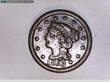 1853 BRAIDED HAIR LARGE ONE CENT COIN (GREAT)