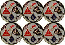 Masonic York Rite Car  Auto Emblem - Six Pack (YRA-1-6)