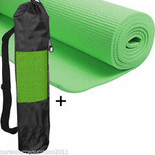 6mm Thick Yoga Mat with Non Slip Carrier Exercise Pilates Gym Mats  Green