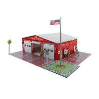 1/64 Slot Car HO Fire Department Photo Real Kit Track Layout Accessories Sets