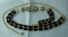 Metal Chain Belts with Rhinestones, Cloth Accessories