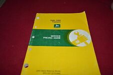 John Deere 7200 7400 Tractor Service Pricing Manual YABE13