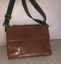 Boss Hugo Boss Bingorten Leather Briefcase Tan In Excellent Condition