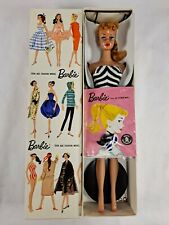 Vintage Mattel Ponytail Blonde Barbie  #850 With Box and Accessories , Dark Skin