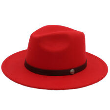 725ef33beb2 Men Women Wool Wide Brim Panama Hats Sombrero Caps Sunhat Fedora Trilby  Jazz L