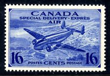 CANADA AIR MAIL SPECIAL DELIVERY #CE1 16c Brt ULTRA, 1942, VF, MNH