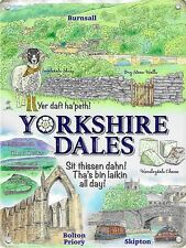New 15x20cm Yorkshire Dales, Wensleydale small metal advertising sign