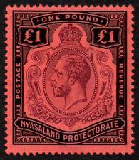 Nyasaland 1913-21 £1 King George V, MH (SG 98)