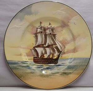 Royal Doulton Rack Plate Famous Ships The Victory Lord Nelson D5957 c1941 27cm