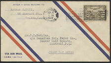 1928 #C1 5c First Airmail Stamp FDC, CPO Air Mail Envelope, London Ont