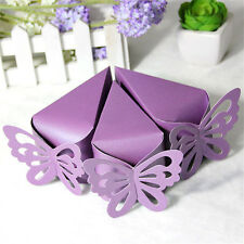 50Pcs Butterfly Favor Gift Candy Boxes Cake Design Birthday Weeding Party Supply
