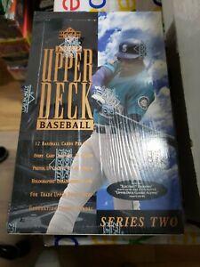 1994 UD Upper Deck Series 2 Baseball Factory Sealed 36 Pack Box