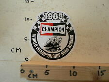 STICKER,DECAL  HOCKENHEIM 1983 WORLD CHAMPIONSHIP ROAD RACING CHAMPION MOTO