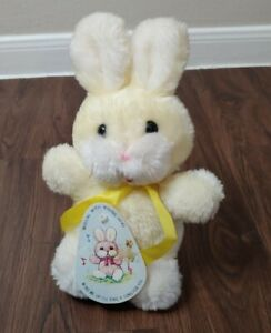 """Vintage Fairview Yellow Easter Bunny Rabbit Plush Wind Up Music & Movement 10"""""""