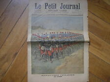 CICLISMO BICICLETTA CYCLING BICYCLE MILITARIA CYCLISTES LE PETIT JOURNAL 1897