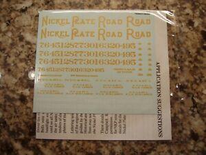Nickel Plate Road (NKP) Berkshire Steam Locomotive Decals, O-scale