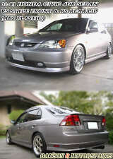 RS Style Front + Rear Lip (PP) Fits 01-03 Honda Civic 4dr