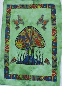 Indian Mandala Mashroom Tapestry Wall Hanging Cotton Tapestry Poster Art Hippie