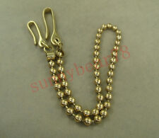 Solid brass Golden Collectable Vintage Pants Fob Wallet Ball Chain with hook
