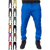 Mens Designer Kushiro City Slim Fit Chino Straight Leg Trousers Cotton Pants
