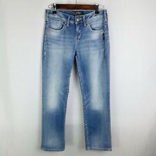 Silver Jeans Suki High Rise Capri Womens Size 26 Blue Light Wash Super Stretch