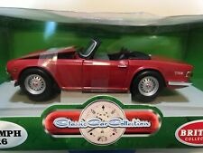 ERTL Britains Collectables RED TRIUMPH TR6 1:18 scale - Brand New in Box!