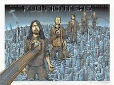 Mint & Signed Foo Fighters Emek Citi Field Nyc Pearl Poster 72/100