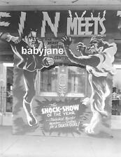 020 FRANKENSTEIN MEETS THE WOLF MAN THEATRE MARQUEE LON CHANEY JR PHOTO