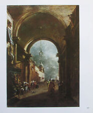 Francesco Guardi: Tordurchblick - Reproduktion print