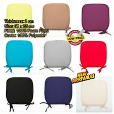 Set Of 2 4 & 6 Movable Tie On Chair Seat Cushion Foam Pads Garden Dining Kitchen