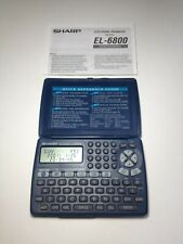 Sharp Memo Master El-6800B Electronic Organizer Phone Book with new battery!