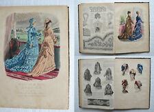 REVUE DE LA MODE - 1875 - 38 numéros in-folio / 38 gravures coloriées.