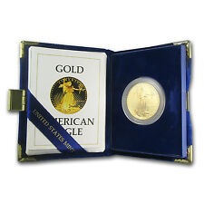 1986-W 1 oz Proof Gold American Eagle Coin - with Box and Certificate -SKU #4909