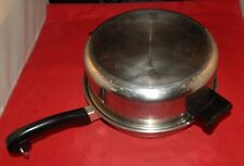 """Vintage Saladmaster 18-8 Tri Clad Stainless Steel 11"""" Dome Cover"""